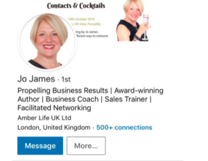 Do you do this on LinkedIn? Blog by Jo James AmberLife