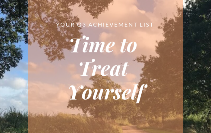 Time to Treat Yourself - Q3 Achievement List-blog by Jo James AmberLIfe