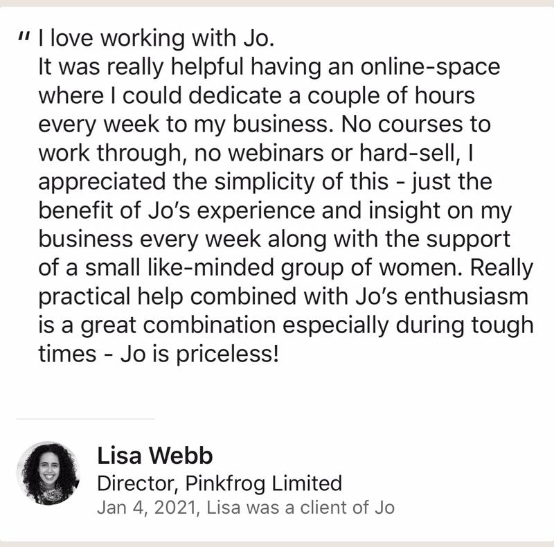 AmberLife Action Group Testimonial from Lisa Webb Pink Frog Ltd