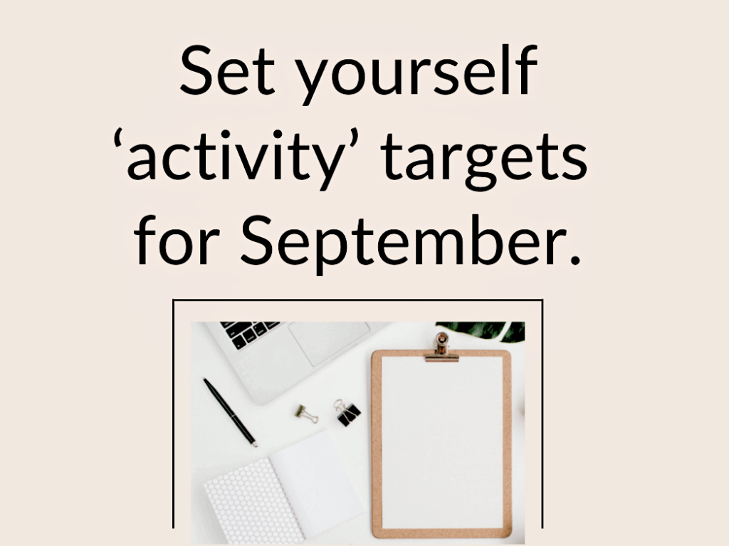How to set yourself activity targets Blog by Jo James AmberLife